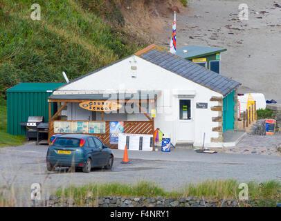 The Beach Hut, Kennack Sands, Lizard Peninsula, Cornwall, England, UK - Stock Photo