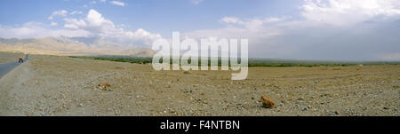 Scenic panorama of arid landscape around Kabul in Afghanistan - Stock Photo
