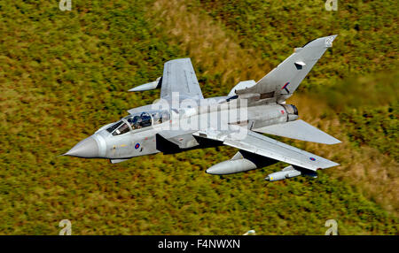 RAF Panavia Tornado GR4, low level flying - Stock Photo
