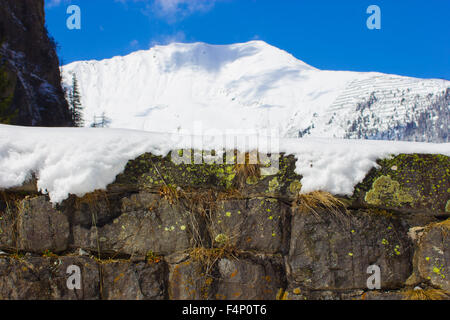 Winter landscape, Austria alps. Mountain bad gastein and rauris - Stock Photo