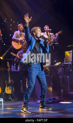 Sir Cliff Richard in concert at the Royal Albert Hall,London.The concert was part of his 75th birthday tour. - Stock Photo