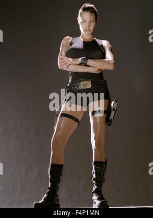 Angelina Jolie, Lara Croft : Tomb Raider 2001  USA  Director : Simon WEST - Stock Photo