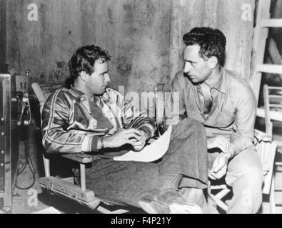 Elia Kazan, Marlon Brando / A Streetcar Named Desire 1951 directed by Elia Kazan - Stock Photo