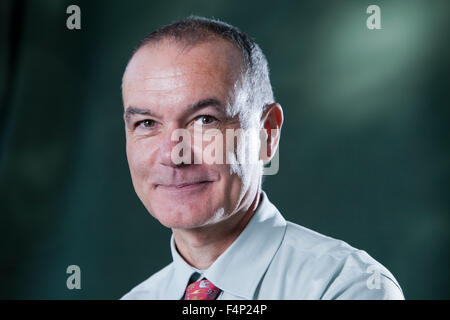 Jean-Pierre Filiu, French historian and author, at the Edinburgh International Book Festival 2015. Edinburgh. 30th - Stock Photo