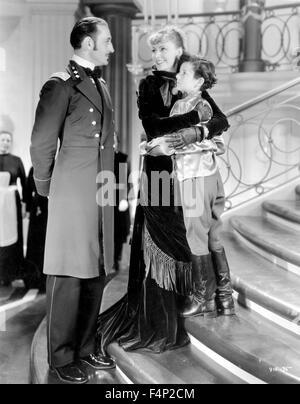 Basil Rathbone, Greta Garbo, Freddie Bartholomew / Anna Karenina 1935 directed by Clarence Brown - Stock Photo