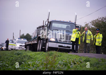 Lakenheath, Suffolk, UK. 21st Oct, 2015.  RAF Lakenheath FA-18 Hornet crash scene Credit:  Jason Marsh/Alamy Live - Stock Photo