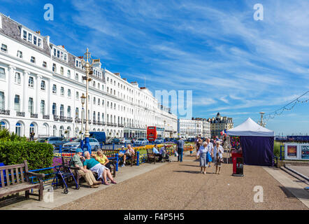 Grand Parade in Eastbourne, East Sussex, England, UK - Stock Photo
