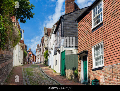 Keere Street in the old town, Lewes, East Sussex England, UK - Stock Photo