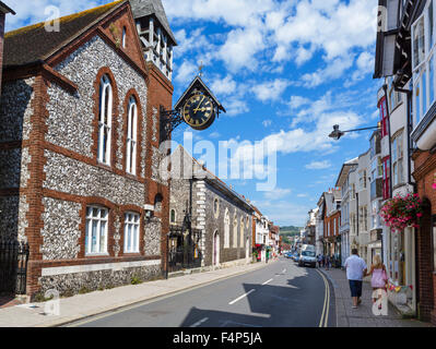 The High Street, Lewes, East Sussex England, UK - Stock Photo
