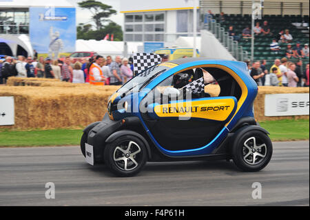 A Renault Twizy Sport at the Goodwood Festival of Speed in the UK. - Stock Photo