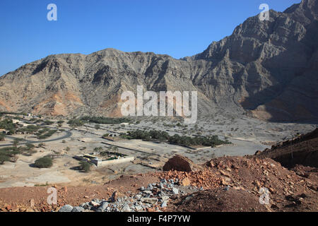 Bukha, in the granny's niches enclave of Musandam, Oman - Stock Photo