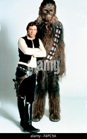 Harrison Ford, Peter Mayhew / Star Wars - The Empire Strikes Back 1980 directed by Irvin Kershner - Stock Photo