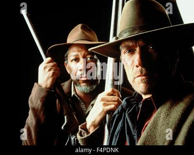 Morgan Freeman, Clint Eastwood / Unforgiven 1992 directed by Clint Eastwood - Stock Photo