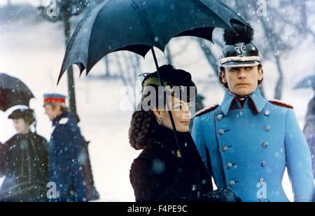 Romy Schneider and Helmut Berger / Ludwig : The Mad King of Bavaria / 1972 directed by Luchino Visconti - Stock Photo