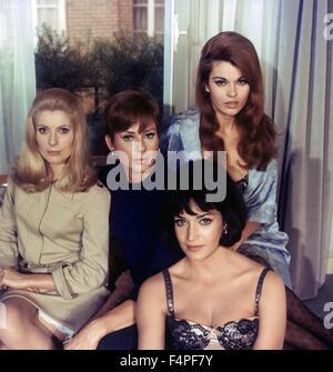 Catherine Deneuve, Geneviève Page, Françoise Fabian and Maria Latour / Belle de jour / 1966 directed by Luis Bunuel - Stock Photo