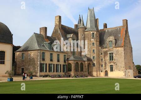 France, Brittany, Chateau des Rochers-Sevigne, near Vitre - Stock Photo