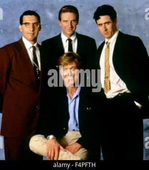 Robert Redford with John Turturro, Ralph Fiennes and Rob Morrow / Quiz Show / 1994 directed by Robert Redford - Stock Photo
