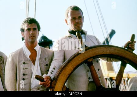 Mel Gibson and Anthony Hopkins / The Bounty / 1984 directed by Roger Donaldson - Stock Photo