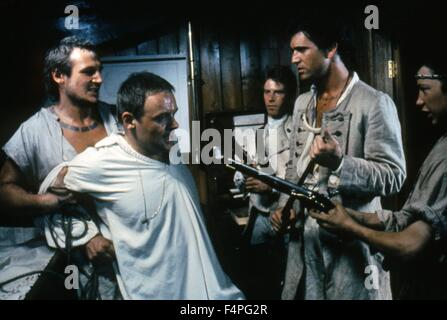 Liam Neeson, Anthony Hopkins and Mel Gibson / The Bounty / 1984 directed by Roger Donaldson - Stock Photo