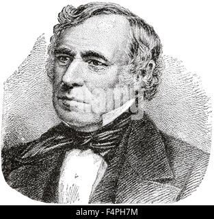 Zachary Taylor (1784-1850), 12th President of the United States, Engraving, 1889 - Stock Photo