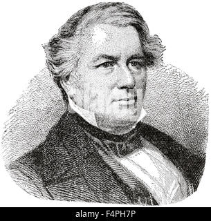 Millard Fillmore (1800-74), 13th President of the United States, Engraving, 1889 - Stock Photo