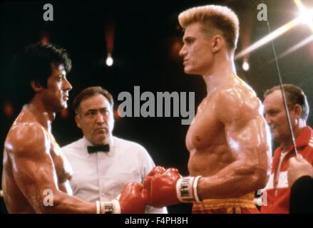Sylvester Stallone and dolph Lundgren / Rocky IV / 1985 directed by Sylvester Stallone - Stock Photo