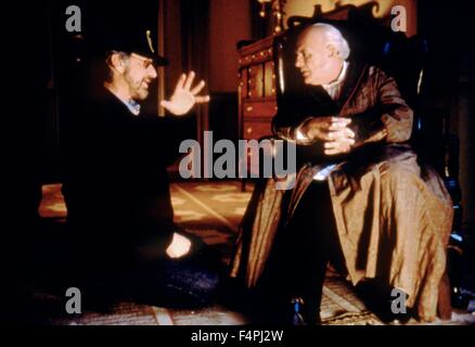Steven Spielberg and Anthony Hopkins / Amistad / 1997 directed by Steven Spielberg [Dreamworks Pictures] - Stock Photo