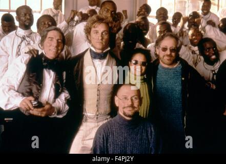 Pete Postlethwaite, Matthew McConaughey, Debbie Allen, Steven Spielberg and Anthony Hopkins / Amistad / 1997 directed - Stock Photo