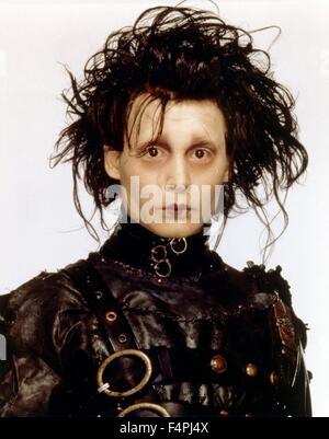 Johnny Depp / Edward Scissorhands  / 1990 directed by Tim Burton [Twentieth Century Fox Film Corpo] - Stock Photo