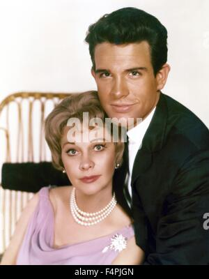 Warren Beatty and Vivien Leigh / The Roman Spring of Mrs. Stone / 1962 directed by Jose Quintero [Seven Art Productions - Stock Photo