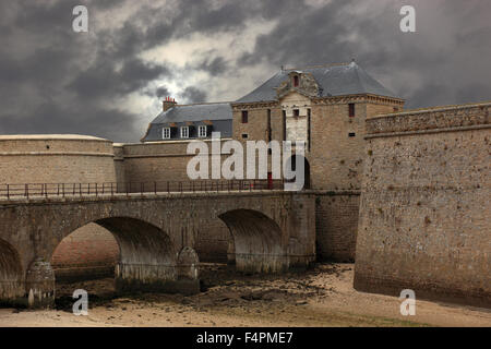 France, Brittany, Citadel of Port Louis - Stock Photo
