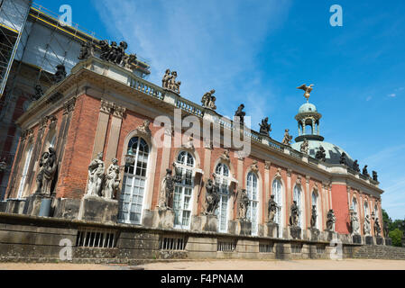 New palace - part of the University of Potsdam campus in Sanssouci park in Potsdam, Germany - Stock Photo