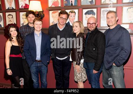 New York, NY, USA. 21st Oct, 2015. Sarah Stiles, Michael Oberholtzer, Steven Boyer, Bob Saget, Geneva Carr, Robert - Stock Photo