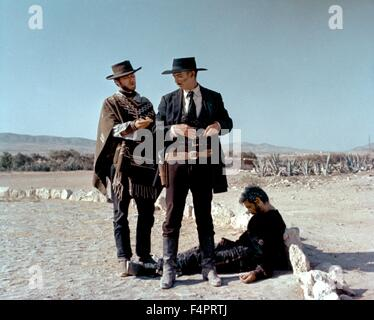 Clint Eastwood, Lee Van Cleef and Gian Maria Volonte / A Few Dollars More /  1965 directed by Sergio Leone [United - Stock Photo