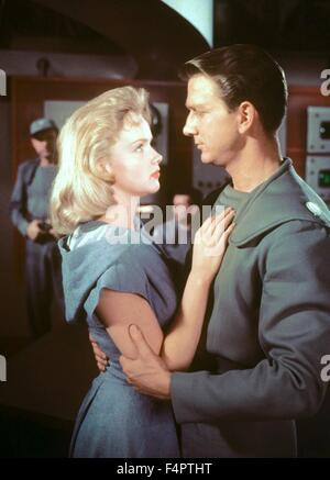 Leslie Nielsen and Anne Francis / Forbidden Planet / 1956 directed by Fred M.wilcox [Metro-Goldwyn-Mayer] - Stock Photo