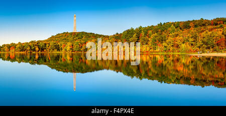 High Point war veterans monument in Kittatinny mountains, New Jersey - Stock Photo