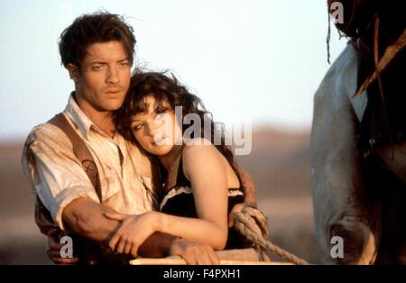 Brendan Fraser and Rachel Weisz / The Mummy / 1999 / directed by Stephen Sommers / [Universal Pictures] - Stock Photo