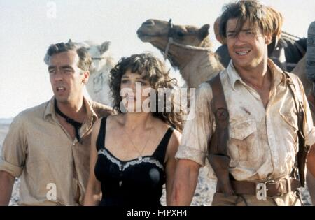 John Hannah, Rachel Weisz and Brendan Fraser / The Mummy / 1999 / directed by Stephen Sommers / [Universal Pictures] - Stock Photo