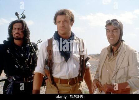 Oded Fehr, Brendan Fraser and John Hannah / The Mummy / 1999 / directed by Stephen Sommers / [Universal Pictures] - Stock Photo