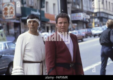 Leonard Nimoy and William Shatner / Star Trek IV : The Voyage Home / 1986 / directed by Leonard Nimoy / [Paramount - Stock Photo