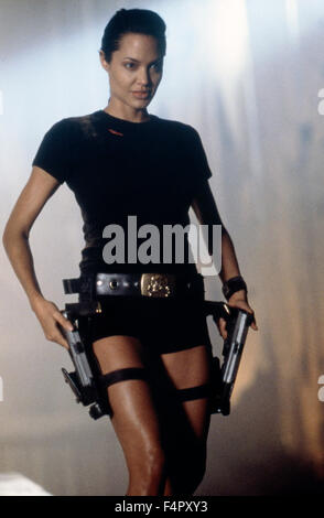 Angelina Jolie, Lara Croft: Tomb Raider, directed by  Simon West   (2001) - Paramount Pictures / Mutual Film Company - Stock Photo
