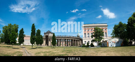 View on the Communs, the part of University of Potsdam in Sanssouci park in Potsdam, Germany - Stock Photo