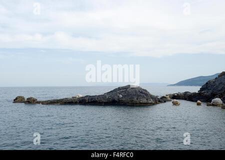 Mylopotamos beach, Pelion, Greece - Stock Photo
