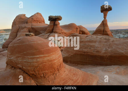 USA, Utah, Grand Staircase Escalante, National Monument, Toadstools - Stock Photo