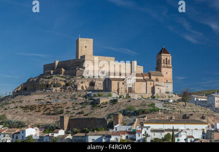 Alcaudete, town, Andalusia, Jaen, Landscape, Spain, Europe, Spring, architecture, castle, church, church, olive, - Stock Photo
