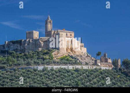 Alcaudete, town, Andalusia, Jaen, Landscape, Spain, Europe, Spring, architecture, castle, church, church, olive, - Stock Photo