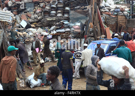 Addis Ababa, the Mercato in Addis Ketema District, Old Market Area - Stock Photo