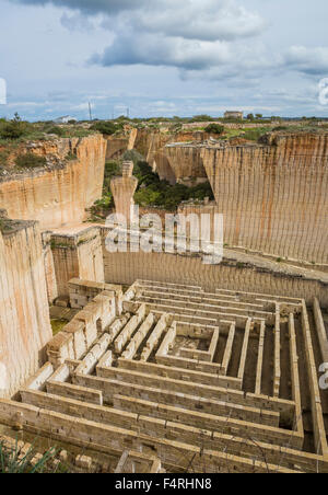 Ciutadella, town, Lithica, Menorca, Island, Spain, Europe, S'Hostal, architecture, Balearic, big, deep, quarry, - Stock Photo