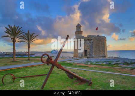 Balearic Islands, Ciutadella, town, Menorca, Island, Sant Nicolau, Spain, Europe, Spring, anchor, architecture, - Stock Photo
