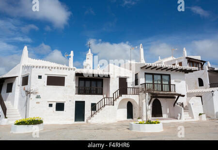 Balearic Islands, Binibeca, Fishing Village, Landscape, Menorca, Island, Old Binibeca, Spain, Europe, arch, architecture, - Stock Photo